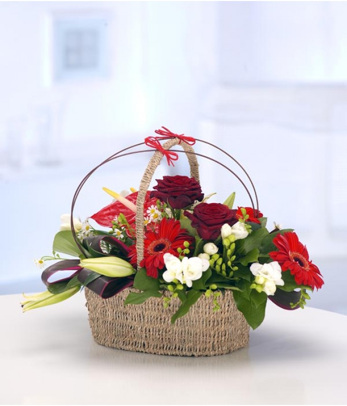 Rose & Gerbera Basket